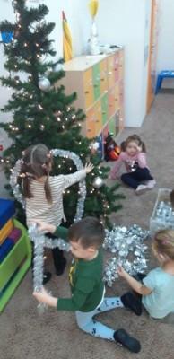 grupa Misie i Kangurki - w przygotowaniu do Świąt Bożego Narodzenia