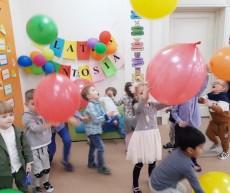 grupa Pingwinki - 4 urodziny Antosia