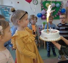 grupa Pingwinki - 4 urodziny Marcelinki
