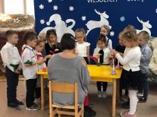grupa Sówki - Przedszkolne kolędowanie