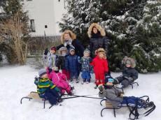 Pingwinki 3-latki - Zabawy na śniegu